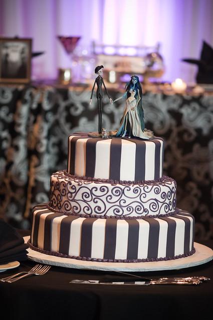 Corpse Bride Wedding Cake