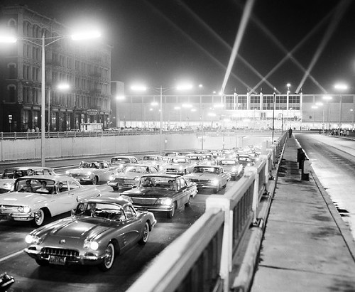 Traffic at the 1960 Auto Show