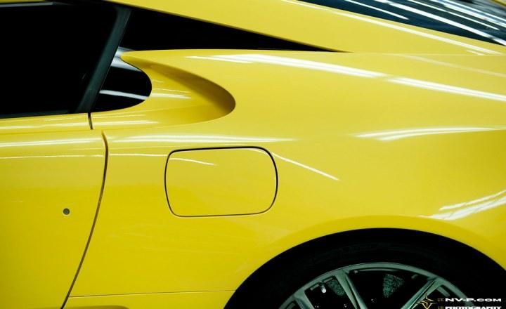yellow Lexus LFA brake cooling duct