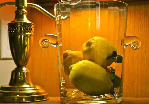Lemons in Glass by Shirley Buxton