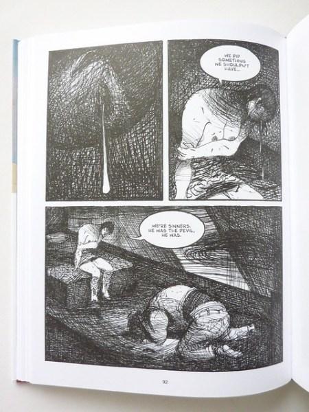 page from Stigmata by Lorenzo Mattotti
