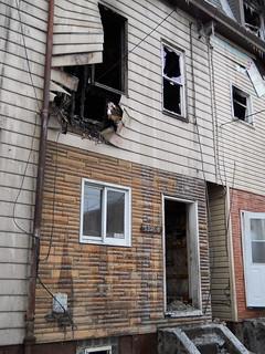 burned house on Dresden