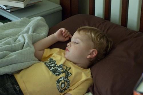 Oliver, sleeping