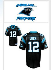 Andrew Luck's Panther Jersey