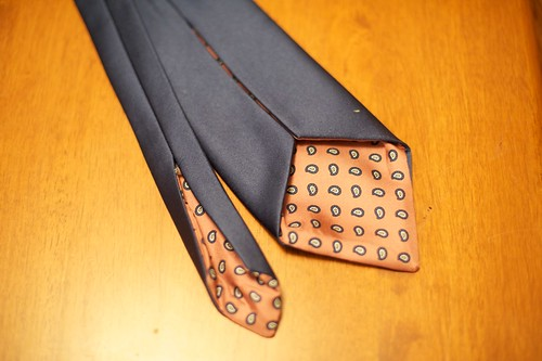 Inside of tie