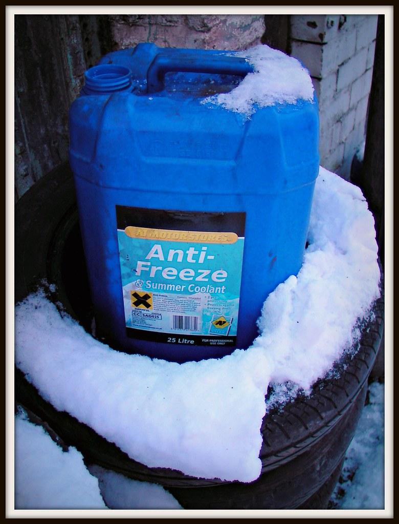 Anti freeze in the snow