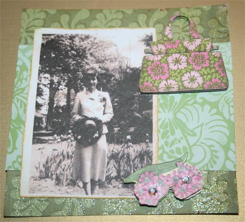 "Fancy dresser 4"" x 4"" Collage Card"