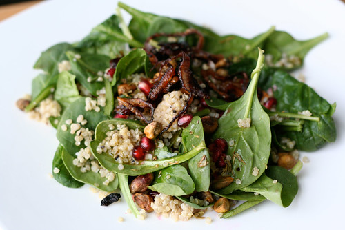 Coconut Quinoa and Spinach Salad