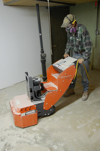 Fixing our uneven garage floor acres square feet