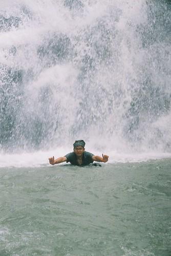 美麗的瀑布 水花