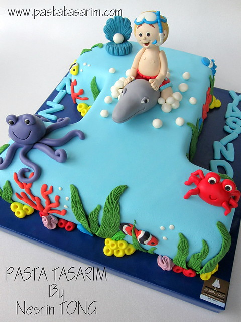 DENIZ 1ST BIRTHDAY CAKE