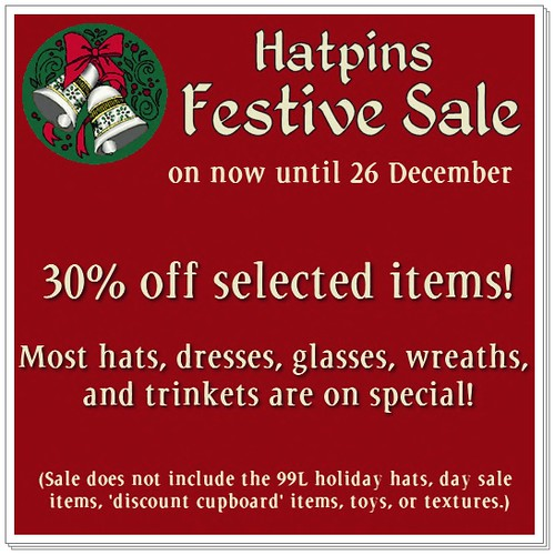 Hatpins Festive Sale