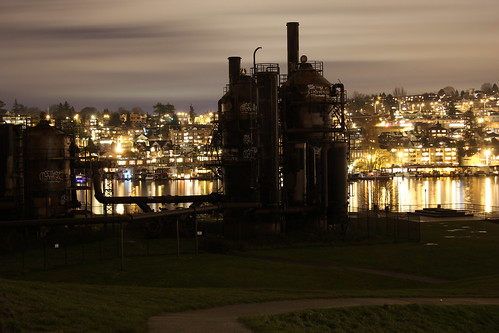 View from Gasworks park with Eastlake in the background.