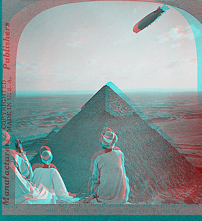 Pyramid with Zepplin