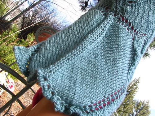 Test Knit:  Flower T-Shirt Seamless Side