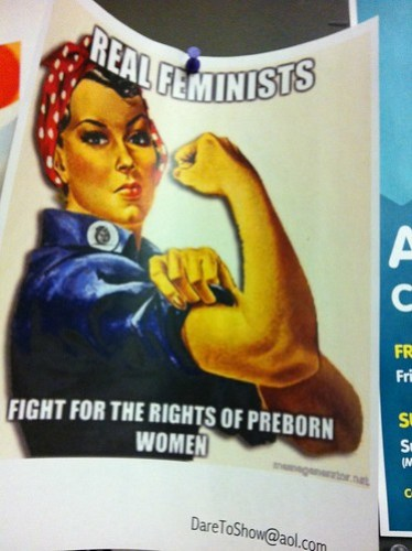 Misuse of Rosie the Riveter in a Pro-Life campaign