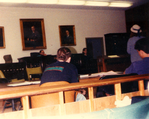 The SGHS 1991 Mock Trial team at Tulane University