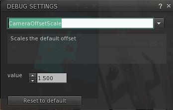 cameraoffsetscale settings