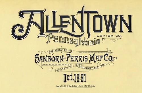 Allentown, Pennsylvania October 1891