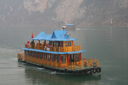 Tourist boat on the Yangtze River at Yichang