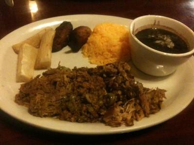 sampler meal at Emilio's Cuban Cafe