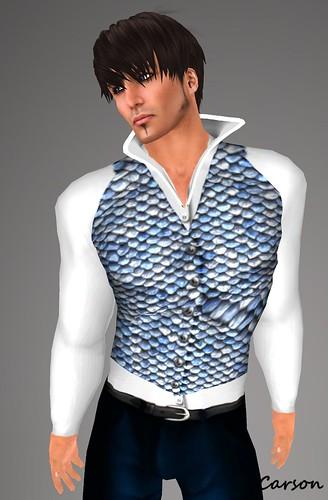 HOE Blue Silk Suit