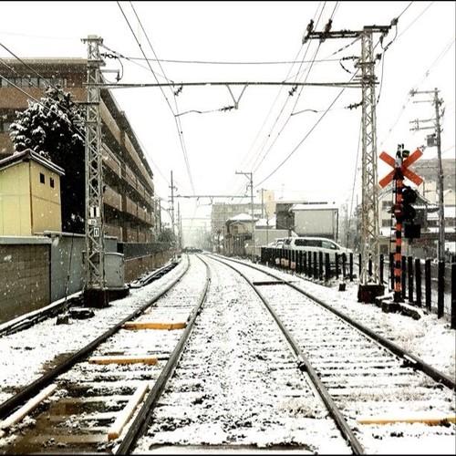(^o^)ノ < おはよー! 今朝の大阪、久々の雪です。˚✽ . *。✾ ˚.❆ 。˚。❉ * ☃˚✽ . *。✾ ˚.❆ 。˚。❉ * #Osaka #morning