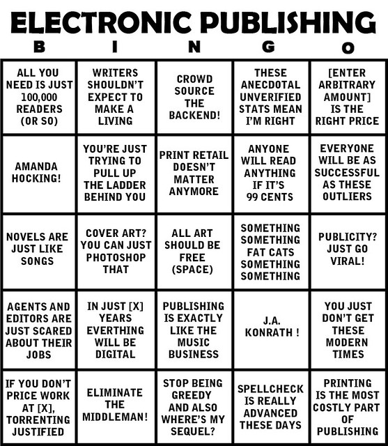 The electronic publishing bingo card whatever for those of you unfamiliar with the bingo card concept basically if you see one or more of your favorite arguments for how zomg epubbing will change fandeluxe Image collections