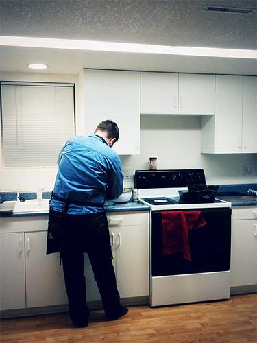 Scott in the baking kitchen.