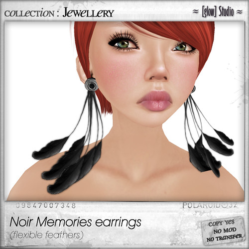 [ glow ] studio - noir memories earrings