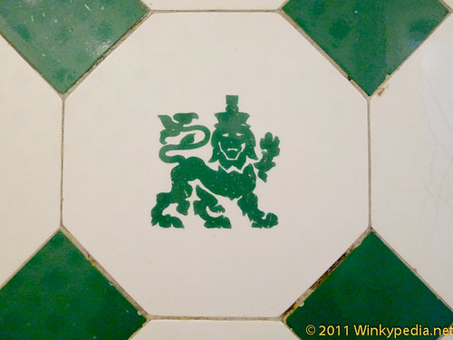 Original tiling at Victoria and Albert Museum