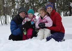 Our family in the snow