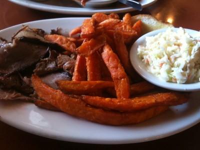 Brisket Plate at JL's BBQ (Macon GA)