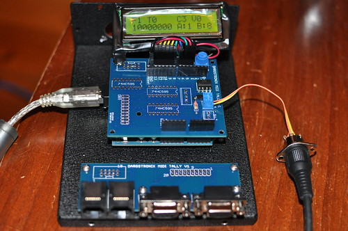 MIDI Tally Custom PCBs