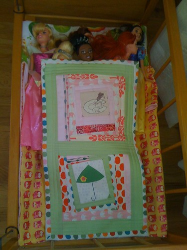 doll quilt in action