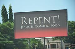 Repent! Jesus is coming soon