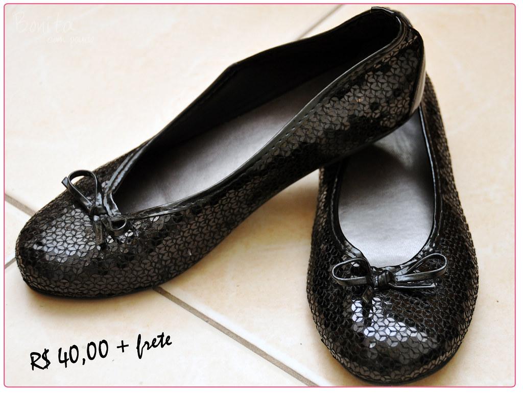 Sapato de paetê