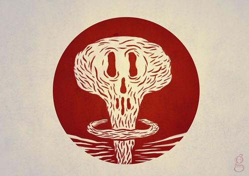 Menace nucléaire sur le japon - Illustration : Gildéric