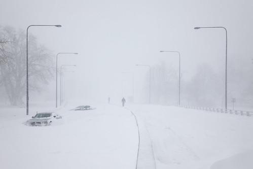 Lake Shore Drive in the Blizzard