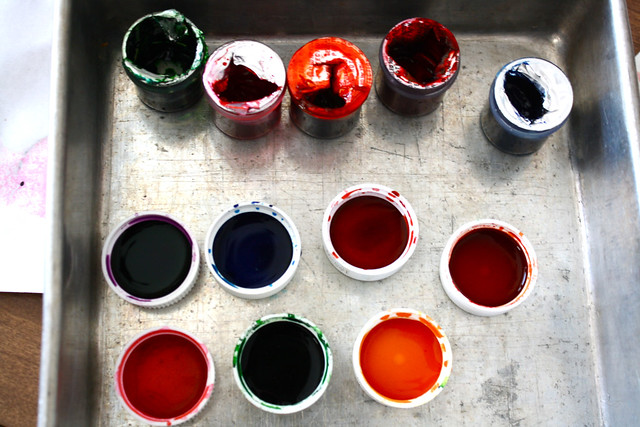 food coloring = paint