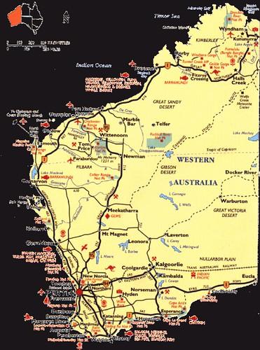 Map of Western Australia