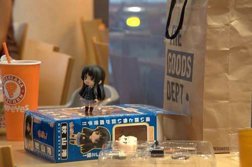 Nendoroid Akiyama Mio has been unboxed - she looks happy there ^^