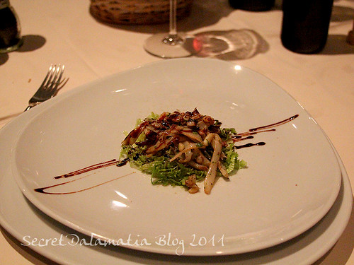 Cuttlefish salad with pine nuts