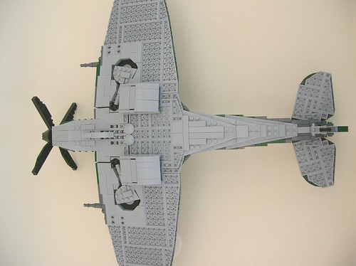 Lego Spitfire Mk IX (belly)
