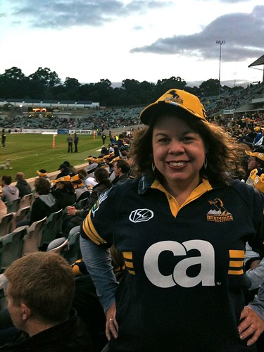 at the rugby