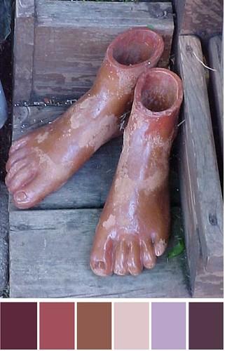 Terracotta feet
