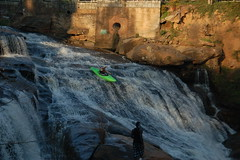 Kayakers at Reedy Falls