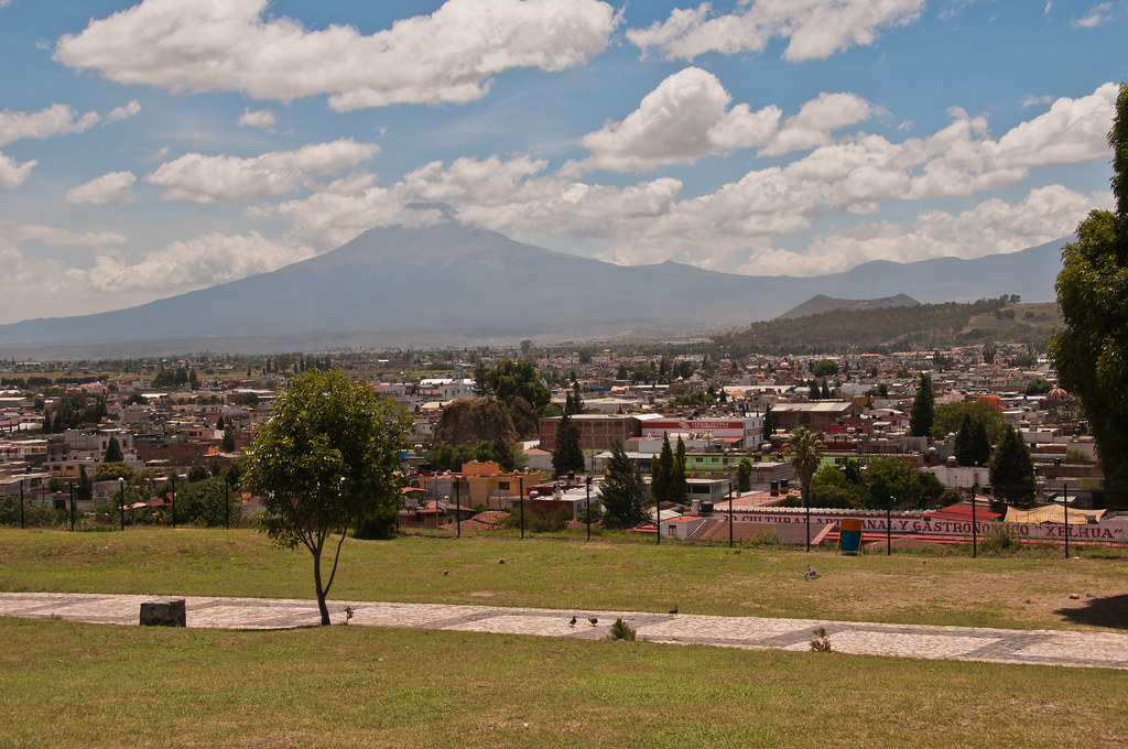 Popocatapetl from Cholula