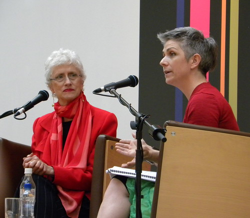 Sara Paretsky and Denise Mina at the Mitchell Library