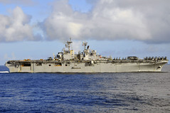USS Boxer transits the South China Sea.